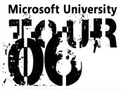 Microsoft University Tour 06 Logo